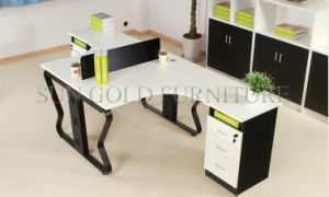 La moderna concisa del armario de oficina con una gran estación de trabajo de la partición de la tabla (SZ-WST745)
