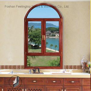 粉のコーティングは二重ガラスをはめた絶縁された防音アルミニウム日除けのWindows (FT-W70)に