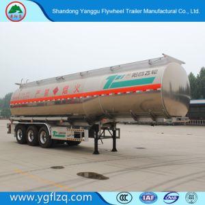 Diesel Vervoer 3 van de benzine/Semi Aanhangwagen van de Tank van de Olie van de Aanhangwagen van de Tank van de Brandstof van de Legering van het Aluminium van de As de Semi