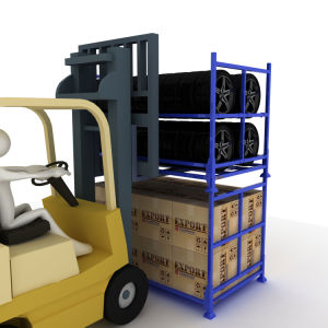 Commerce de gros réglable et pliable Rack de stockage de pneus de métal