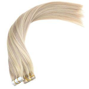 Band van de Kleuren van Aviva de Dubbele Weft Multi in de Uitbreiding van het Haar (av-tp14-18/613)