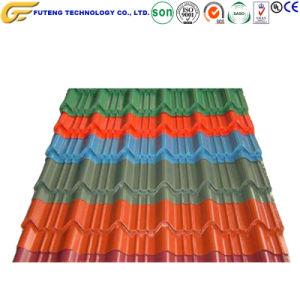 El color de acero galvanizado de techos de metal corrugado Panel Retro Mosaico