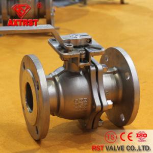 Valvola a sfera flangiata dell'acciaio inossidabile 2PC con il rilievo di montaggio ISO5211