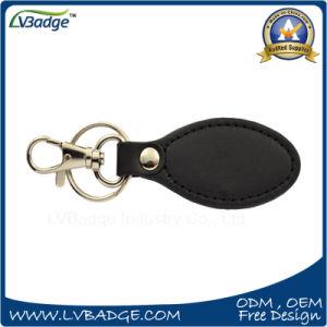 昇進のギフトのための高品質の安い革および金属Keychain