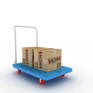 Carretto pratico di plastica resistente alla corrosione di trasporto di piegatura