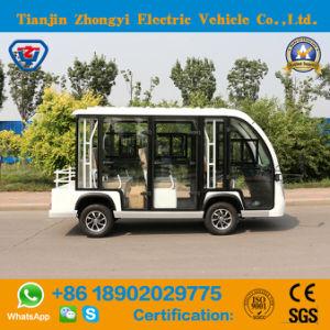 Venda 8 Lugares a Visitar carro eléctrico fechado com certificação CE