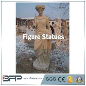 Вырезание из природного камня западной рисунок статуи для украшения
