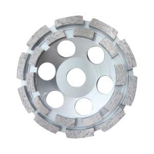 Disco de fileira dupla de diamantes sinterizados de moagem de Concreto Cup rodas para a máquina
