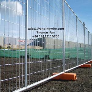 Heißer eingetauchter galvanisierter Maschendraht-beweglicher temporärer Zaun
