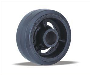 중국 최신 제품은 4 인치 회전대 격판덮개 고무 바퀴를 도매한다