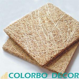 Matériau de construction de la laine de bois Panneaux de plafond acoustique