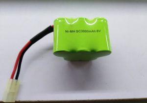 Ni MH 건전지 팩 6 * 편평한 모형 건전지를 위한 Sc 3000mAh 7.2V
