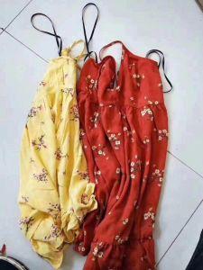 Commerce de gros de l'inventaire de la marque fashion petite fleur Lady Halter robes cassé