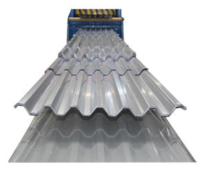 Zinc métal ondulé prépeint tôle de toit