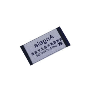 고품질 의류를 위한 주문 인쇄된 길쌈된 의복 레이블