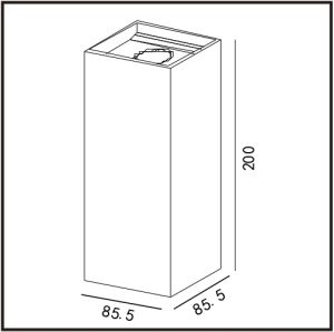 高性能2*8Wの表面の取付けられた穂軸LEDの壁ライト