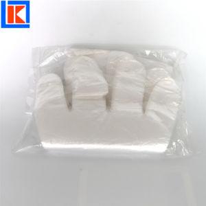 음식 수교를 위한 돋을새김된 LDPE PE 처분할 수 있는 장갑