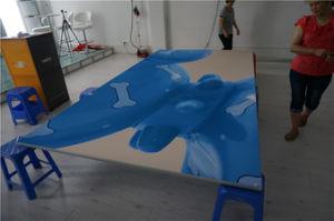 Магазин рекламы висящих выставка свет от дисплея стены Мутянъи