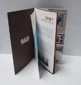 新式の贅沢なカスタムペーパー広告のためのフライヤによって折られるリーフレット