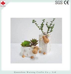 かわいい樹脂の牧歌的なヒツジ様式のプラント植木鉢