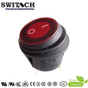 LED aceso em formato electrónico à prova de liga-desliga do Interruptor de alimentação do interruptor oscilante do Botão de auto peças (Kan-B2-25P-12)