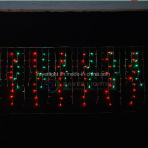 Mehrfarben144 LED Eiszapfen-Licht-Weihnachtsdekor des LED-Feiertags-