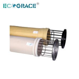 Colección de polvo de planta de cemento de la bolsa de filtro de fibra de vidrio