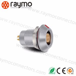 コネクターを受けとっている熱い販売の互換性のあるLemos Epg 0b 5 Pinの金属の円のプッシュプル自己
