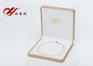 Contenitore rotondo di collana della perla del velluto giallo