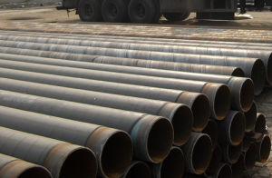 Антикоррозионную обработку 3lpe Tpepcoated спираль стальной трубопровод