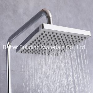 La lluvia gran bañera ducha ducha cromados de latón Set