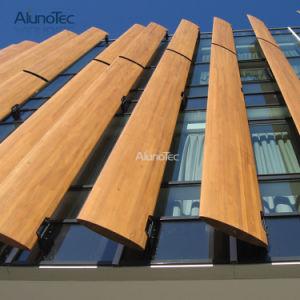 Алюминиевый корпус с фасадом на открытом воздухе затенения Sun для построения жалюзи