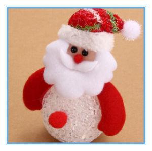 Hangende Ornament van de Kerstboom van het Motief van de Lamp van de Stemming van de Decoratie Kerstmis van HOOFD van de Sneeuwman het Lichte
