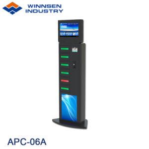 Winnsen 19 Zoll Bildschirm-intelligentes Telefon-aufladenkiosk-RFID gebetriebenes Glastür-Schließfach bekanntmachend