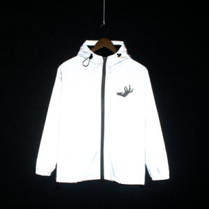 Оптовая торговля женщинами высокая световая хип-хоп Custom работает куртки Hi Vis/отражают/светоотражающие куртка с молнией