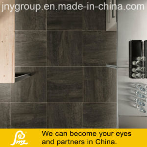 磁器の床タイルのデジタル無作法な印刷の暗い石造りのタイル
