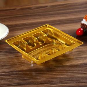 Nova bandeja interna de plástico de ouro de PVC embalagens de plástico para produtos cosméticos