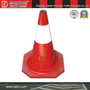 50cm Flexible en caoutchouc industriel cône d'avertissement de sécurité routière (CC-A09)