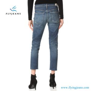 Più nuovo denim blu della caviglia delle ragazze (donne) (P.E. 328 dei pantaloni dei jeans)