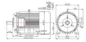 30kw 60kwの低速度Hydro Turbine Permanent Magnet Generator 60Hz
