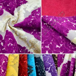 100%Poyester Velo de mobiliário para tecido Jacquard Home Produtos Têxteis