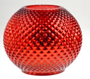 Supporto di candela di vetro di Chirstmas