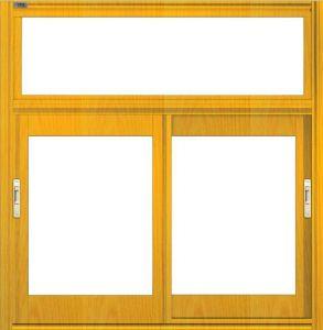 Rivestimento della polvere che anodizza la doppia finestra di scivolamento della serratura