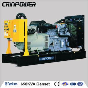 520kw 650kVA Tipo Aberto diesel Arrefecidos a água com elevadores Dínamo gerador de Média Velocidade Fabricado na China