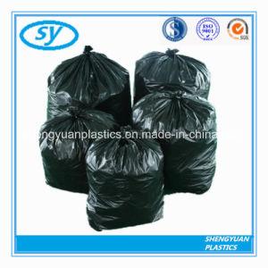 PE Matériel sac à ordures de couleur noire dans le Star scellé bas