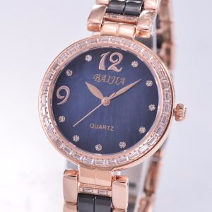 L'eau de résister à la mode en céramique Diamant Mesdames pintes Watch