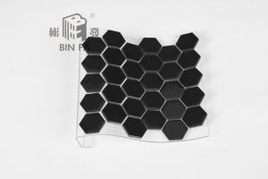 Tegel van het mozaïek van de honingraat van mm de zwarte