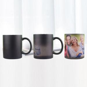 Cambiando de color taza de café de cerámica de 11oz tazas de cambio de color