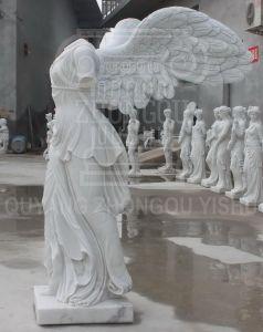 op Beeldhouwwerk van het Standbeeld van het Graniet van de Steen van de Verkoop het Marmeren van de Godin van Nike van Overwinning