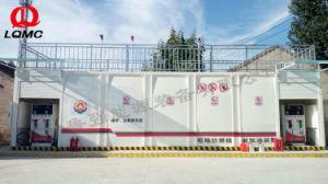 20feetおよび40feet容器2タンク移動式燃料端末の給油所